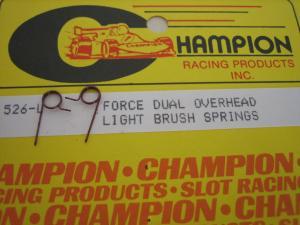 Champion molle per carboncini motore, tensione leggera