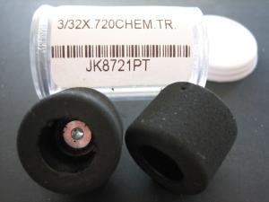 """JK ruote nere 1/32 per asse 3/32"""", diametro .720"""", trattate"""