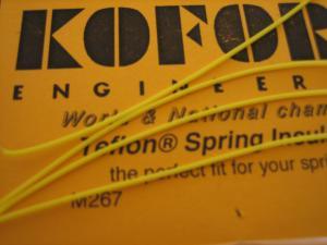 Koford isolante per molle motore in Teflon giallo