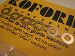 """Koford spessori per pick-up in bronzo, spessore .010"""""""