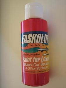 "Faskolor ""Fasred"" vernice rossa per carrozzerie in lexan"