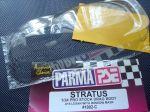 "Parma 1/24 4.5"" Dodge Stratus carrozzeria drag racing, spessore.015"", trasparente con maschere."