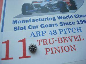 ARP pignone 11 denti, modulo 48, foro 2mm, 6° angolato