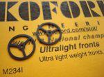 """Koford ruotine anteriori ultraleggere in gomma sottile, .5"""" diameter"""