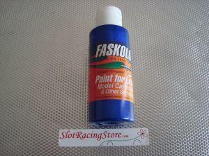 "Faskolor ""Fasescent"" vernice blu per carrozzerie in lexan"