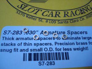 """Slick-7 spessori per indotti e assali da 2mm in ottore tornito da .030"""". 6 pezzi per confezione"""