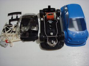 NSR Abarth 500 Assetto Corse  kit con carrozzeria blu,  SW e motore Shark 20K