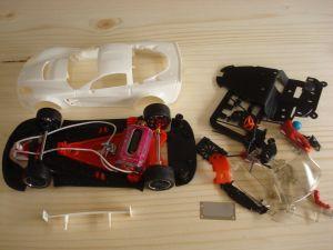 NSR Chevrolet Corvette C6R GT3 kit con carrozzeria bianca, AW e motore King EVO 21K