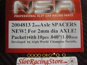 """NSR spessori per assali da 2mm, spessore: .040"""", ottone, 10 pezzi"""