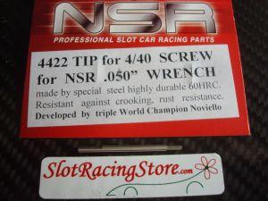 """NSR punta di ricambio per chiavino in acciaio da .050"""", per le classiche brugole standard"""