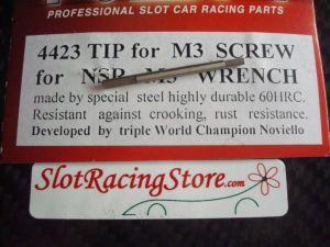 """NSR punta di ricambio per chiavino in acciaio da 1,5mm (.064""""), per viti fissaggio motore o corone e ruote BRM"""