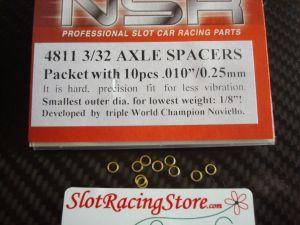 """NSR spessori per assali da 3/32"""", spessore: .010"""", 10 pezzi"""