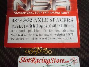 """NSR spessori per assali da 3/32"""", spessore: .040"""", 10 pezzi"""