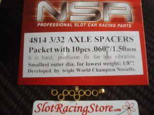 """NSR spessori per assali da 3/32"""", spessore: .060"""", 10 pezzi"""