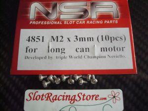 NSR viti metriche a croce con testa bombata da 2 x 3mm per fissaggio motori cassa lunga, 10 pezzi