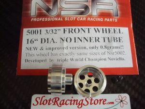 NSR cerchi con foro 3/32 in alluminio, diametro 16mm, largezza 8mm, extra leggeri, tipo standard no Air system