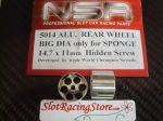"""NSR cerchi in alluminio con foro da 3/32"""" per ruote in spugna, diametro: 14.7mm, larghezza 11mm"""