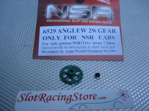 """NSR corona in alluminio per assali 3/32"""" da 29 denti, AngleWinder, verde, diametro: 16.8mm"""