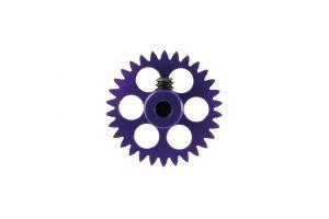 """NSR corona in alluminio per assali 3/32"""" da 30 denti, AngleWinder, blu, diametro: 16.8mm"""