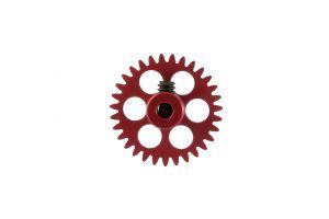 """NSR corona in alluminio per assali 3/32"""" da 31 denti, AngleWinder, rossa, diametro: 16.8mm"""
