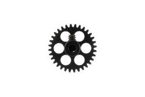 """NSR corona in alluminio per assali 3/32"""" da 32 denti, AngleWinder, nera, diametro: 16.8mm"""