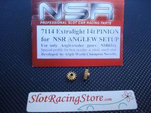 NSR pignone 14 denti, ottone, diametro: 7,5mm, per modelli NSR AngleWinder, 2 pezzi