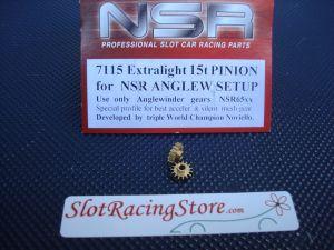 NSR pignone 15 denti, ottone, diametro: 7,5mm, per modelli NSR AngleWinder, 2 pezzi