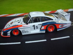 Sideways Porsche 935/78 'Moby Dick' Martini - Silverstone 6H 1978 winner - piloti: Ickx-Mass