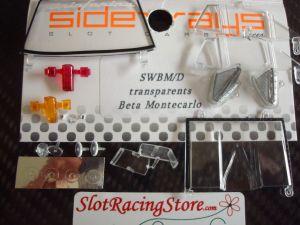 Sideways Lancia Beta Montecarlo parti trasparenti
