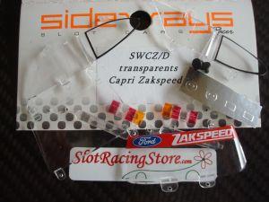Sideways Ford Capri Zakspeed parti trasparenti