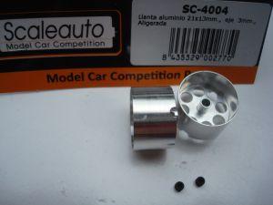 """Scaleauto  cerchi disegno """"Lightweight"""" 21mm x 13mm, per assali da 3mm. brugola M3"""