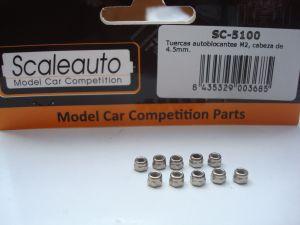 Scaleauto dadi autobloccanti M2 in acciaio da 4,5mm, 10 pezzi