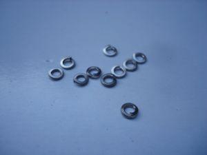 Scaleauto rondelle autobloccanti M2 in acciaio inox M2, 10 pezzi