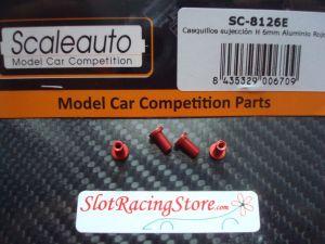 Scaleauto supporti sospensione da 6 mm in alluminio anodizzato rosso
