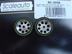 "Scaleauto ruote 1/32 ProComp per assali da 3/32"", Diametro:20,5mm, larghezza: 11mm, diametro cerchio: 15mm"