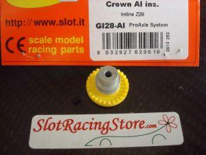 """Slot.it corona In-Line 28 denti """"step 2"""", inserto in alluminio"""