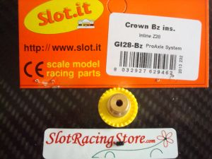 "Slot.it corona In-Line 28 denti ""step 2"", inserto in bronzo"