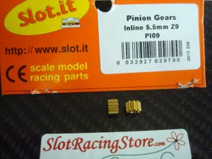 Slot.it pignoni 9 denti ø 5.5 mm (2 x confezione)