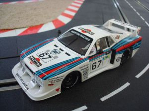 Sideways Lancia Beta Montecarlo  Martini - 24h Le Mans 1981 - drivers: E. Pirro - B. Gabbiani