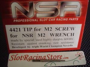 NSR punta di ricambio per chiavino in acciaio da 0,95 mm, per brugole M2