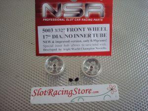 """NSR cerchi anteriori in allumunio per assali da 3/32"""", ultra  leggeri, 17,20mm x 9,80mm, tipo standard"""