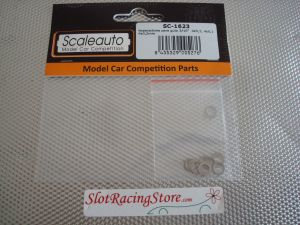 Scaleauto set di 12 spessori in acciaio per pick-up: 4 x 0,5mm, 4 x 0,1mm, 4 x 0,2mm