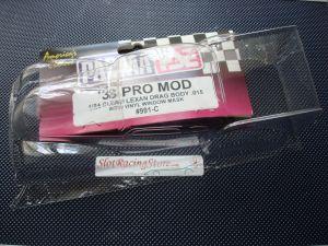 """Parma 1/24 4.5"""" '38 Pro Mod carrozzeria trasparente drag racing, spessore.015"""", con maschere"""