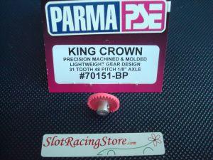 """Parma corona """"King crown"""" in nylon, 31 denti, modulo 48, per assali da 1/8"""""""