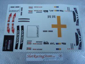Attan Volvo S60 TTA adesivi per carrozzeria Produzione 1/24