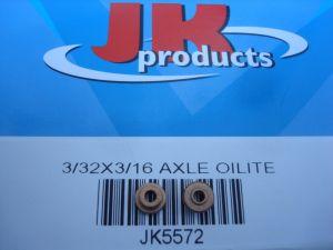 "JK bronzine per assali con diametro 3/32"", con flangia"