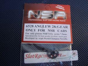 """NSR corona in alluminio per assali 3/32"""" da 28 denti, AngleWinder, diametro: 16.8mm"""