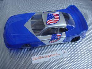 """JK modello 1/24 Cheeta 21 da noleggio con motore Hawk 25, carrozzeria con spessore .015"""" blu"""