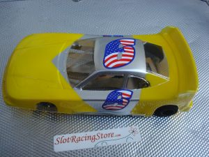 """JK modello 1/24 Cheeta 21 da noleggio con motore Hawk 25, carrozzeria con spessore .015"""" gialla"""