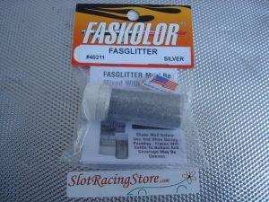 """Faskolor """"Fasglitter""""polvere metallica argento da miscelare con Faskoat per ottenere una finitura metallica scintillante"""